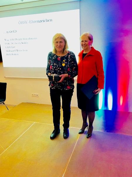Hilde Monschein und ÖBSV-Präsidentin Jank